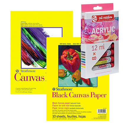 300 Series Canvas Pads & Royal Talens Paint Set Bundles