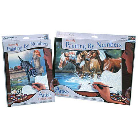 Artists Collection Paint by Numbers Sets