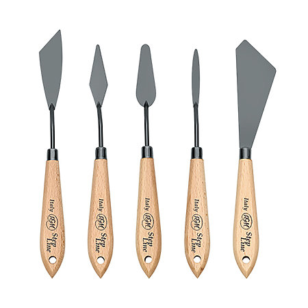 Step Line Black Painting Knives