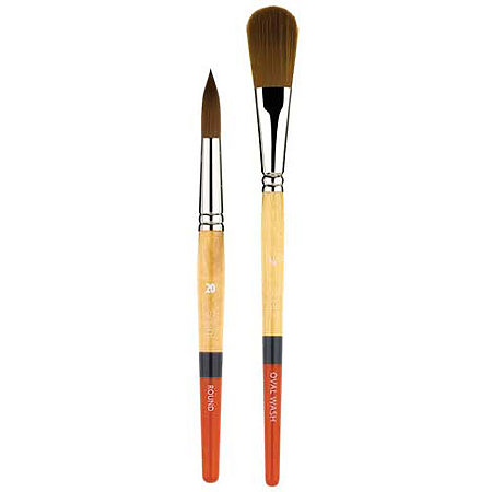 Snap Gold Taklon Brushes
