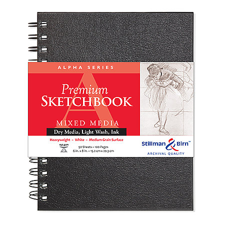 Alpha Series Premium Hard-Cover Sketch Books