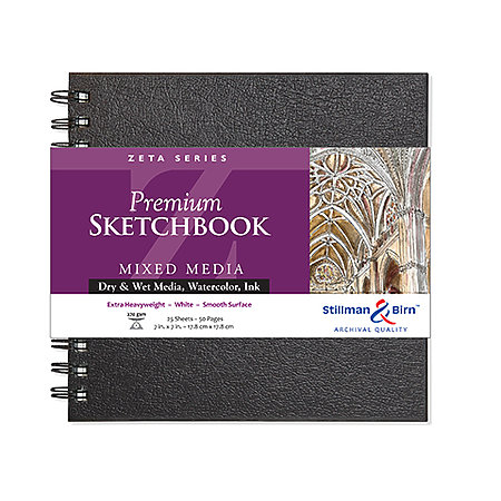 Zeta Series Premium Hard-Cover Sketch Books