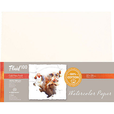 Fluid 100 Watercolor Paper Sheets