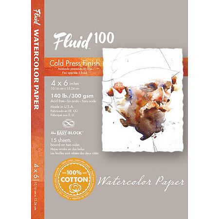 Fluid 100  Watercolor Paper Blocks