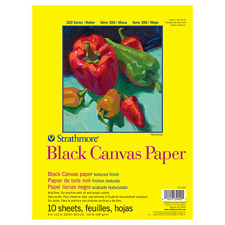 Canvas Black Paper Pads   300 Series