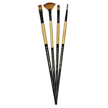 Black Gold Long Handle Sable Brushes