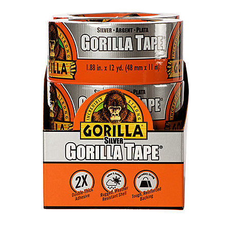 Gorilla Tape Silver 6-Piece Display