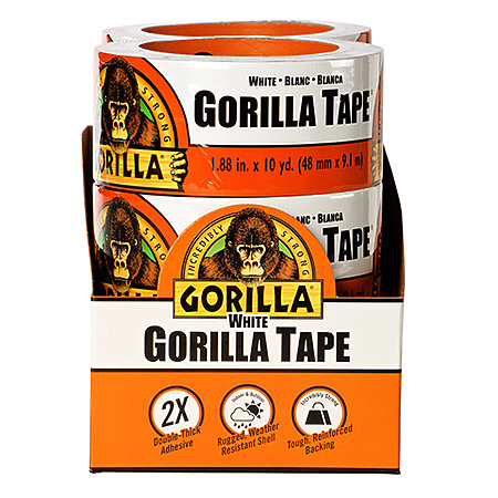 Gorilla Tape White 6-Piece Display