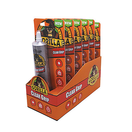Gorilla Clear Grip Glue 6-Piece Display
