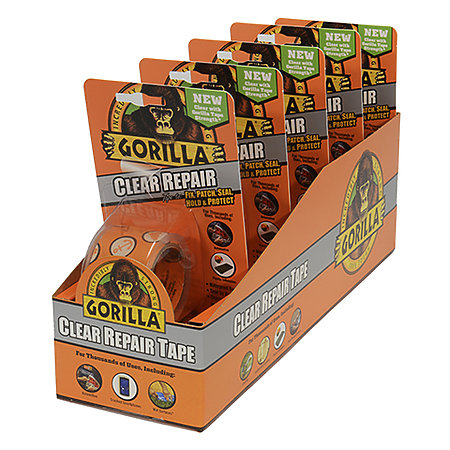 Gorilla Crystal Clear Tape 5-Piece Display