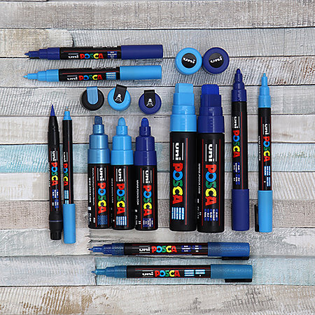 Posca PX148932000 Acrylic Paint Marker Broad Chisel Black
