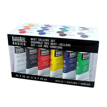 BASICS Acrylic Color Best Sellers Clear Box Set