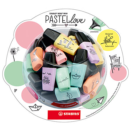 BOSS Mini Pastellove 50-Highlighter Display Tub