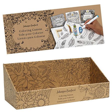 Johanna Basford Coloring Canvas Empty Display & Header Sign
