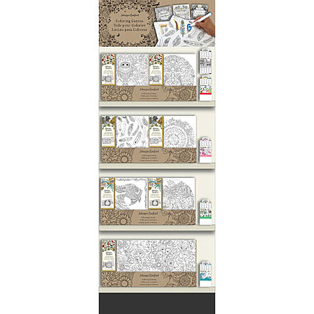 Johanna Basford Coloring Canvas End Cap Assortment
