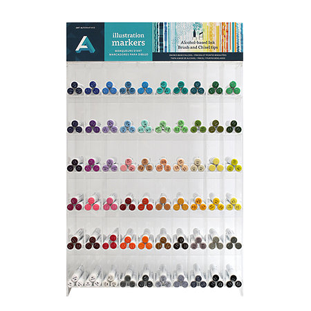 Illustration Markers 180-Piece Assortment Display