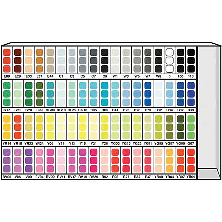 COPIC Marker 72-Color Assortment & Display A