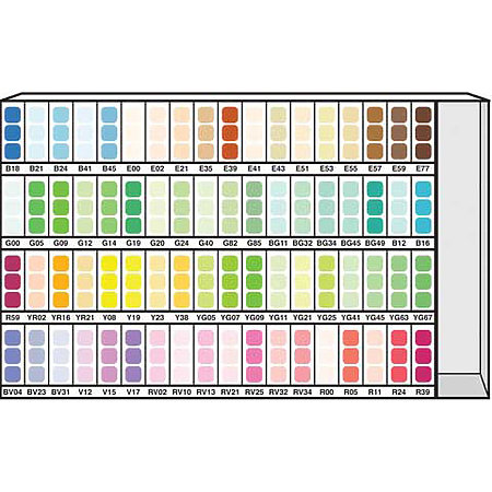 COPIC Marker 72-Color Assortment & Display C