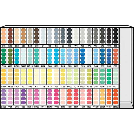 Sketch Marker 72-Color Assortment & Display A