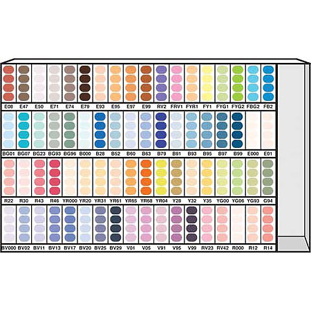 Sketch Marker 72-Color Assortment & Display D