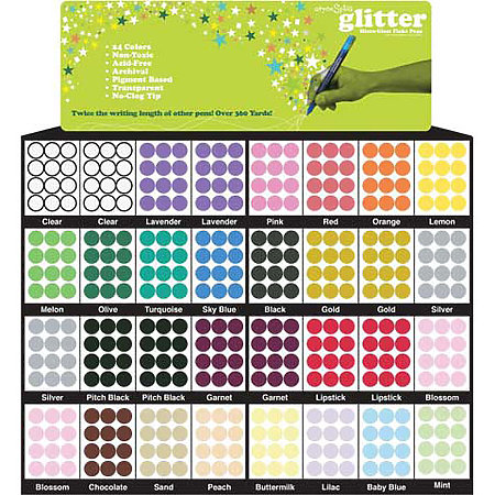Spica Glitter Pen Full Assortment & Display