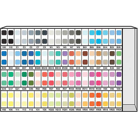 Various 72-Color Ink Assortment & Display A