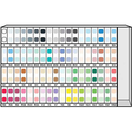 Various 72-Color Ink Assortment & Display B
