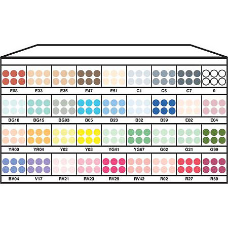 Ciao 36-Color Marker Assortment & Display B