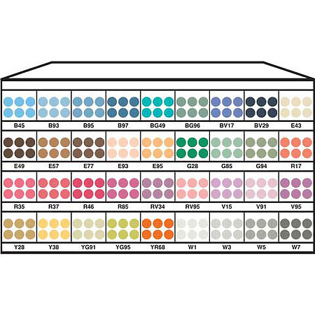 Ciao 36-Color Marker Assortment & Display D