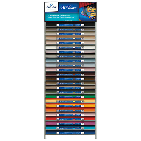 "Mi-Teintes 19"" x 25"" Sheet 50-Color Assortment & Display"