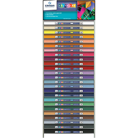 "Colorline 150gsm 19"" x 25"" 25-Shelf Assortment & Display"