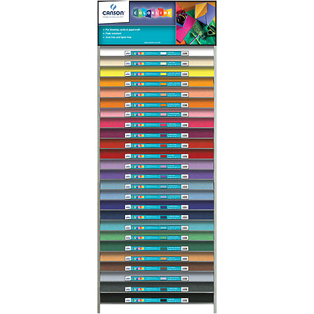 "Colorline 300gsm 19"" x 25"" 25-Shelf Assortment & Display"