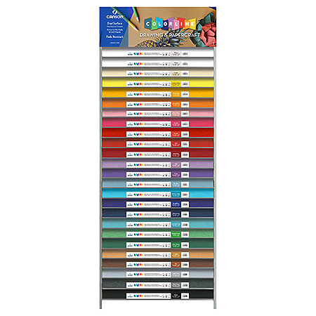 "Colorline 150gsm 8.5"" x 11"" 25-Shelf Assortment & Display"