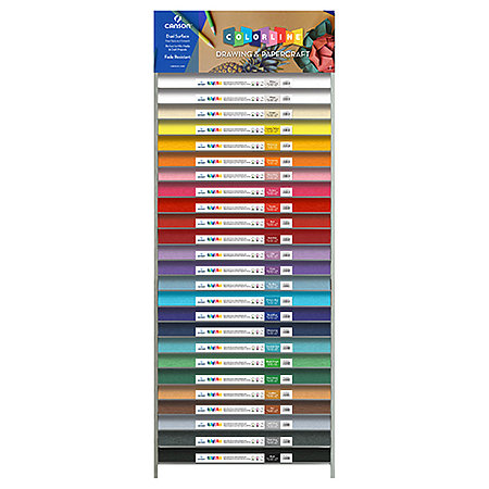 "Colorline 300gsm 8.5"" x 11"" 25-Shelf Assortment & Display"