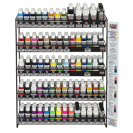 Airbrush Colors Assortment Display