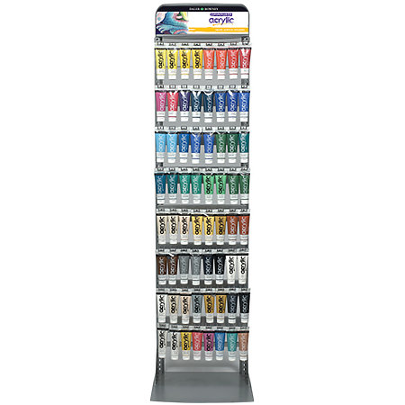 Graduate Acrylic Colors 120ml Floor Assortment & Display