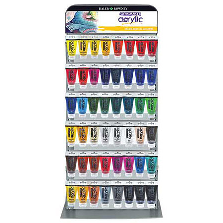 Graduate Acrylics 75ml x3 Shelf Assortment Display