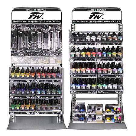 FW Acrylic Artist Inks & Empty Markers Full Assortment & Display