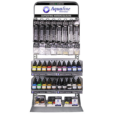 Aquafine Watercolor Inks & FW Empty Paint Markers Assortment & Display