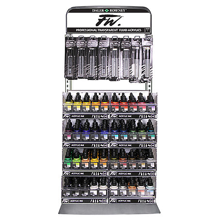 FW Acrylic Inks and Empty Paint Markers Limited Shelf Assortment & Display