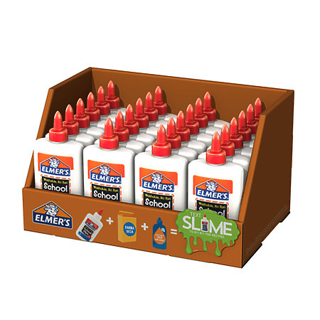 School Glue 7-5/8 oz. Tray Assortment Display