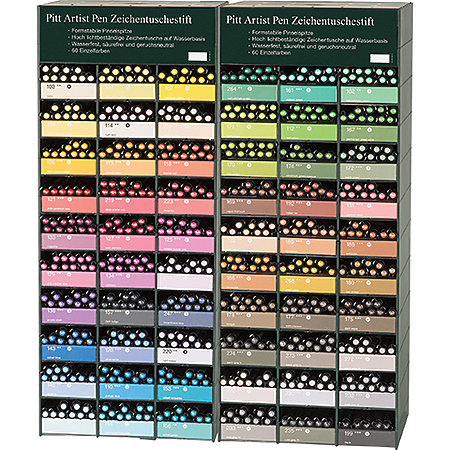 PITT Artist Brush Pen 60 Color Assortment Display