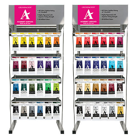 Academy Acrylics 90ml Assortment Display