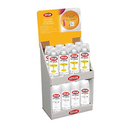 Dry Erase Clear/White Spray Paint Countertop Assortment Display