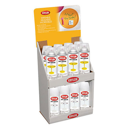 Dry Erase Clear Spray Paint Countertop Assortment Display