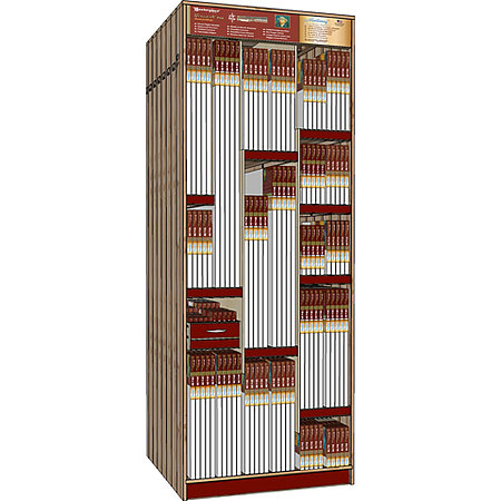 "Vincent Pro 36"" Wide Skyscraper Assortment Display"