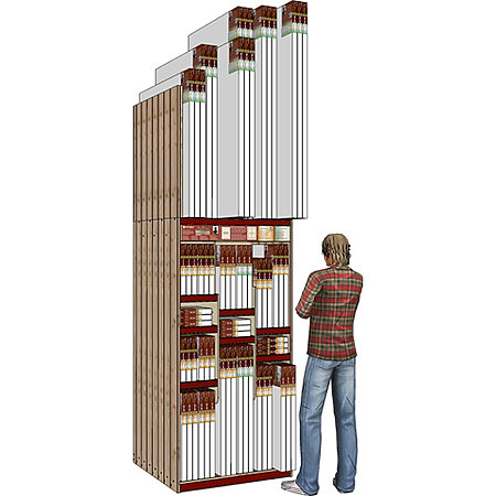 "Monet Pro 36"" Wide 23-SKU Skyscraper Assortment Display"
