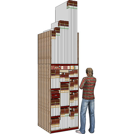 "Monet Pro 36"" Wide 31-SKU Skyscraper Assortment Display"