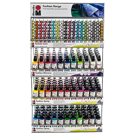 Complete Fashion Paint Spray & Liner Range Assortment Display