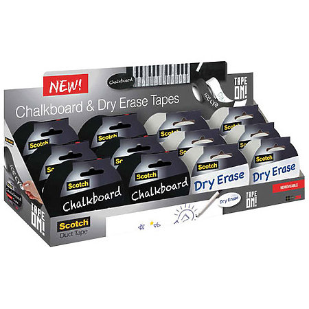 Scotch Dry Erase & Chalkboard Tape Assortment Display